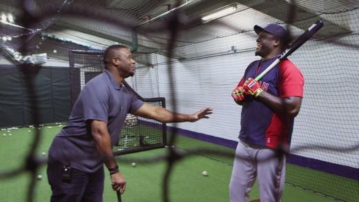Ken Griffey, Jr. and Big Papi share Randy Johnson stories