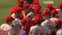 PHI@ATL: Hamels, three relievers combine on no-hitter