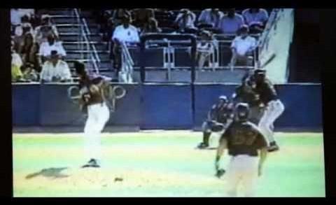 Randy Johnson Hits Bird