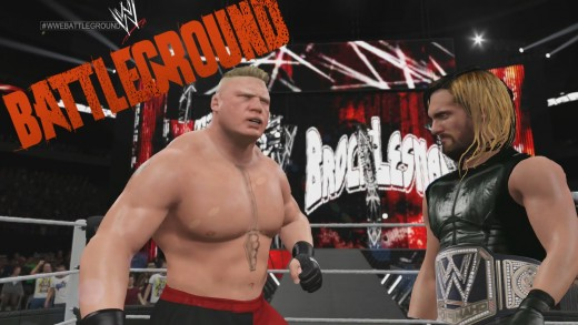WWE 2K15 Gameplay – Brock Lesnar VS Seth Rollins, bienvenido a Suplex City