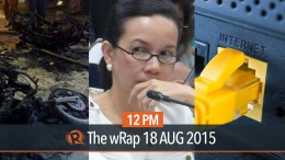 Bangkok blast, Poe-Roxas talks, PH internet | 12PM wRap