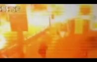 Bangkok explosion caught on camera