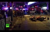 Blast rocks central Bangkok, at least 16 dead & scores injured