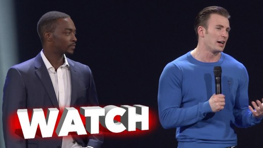 Captain America: Civil War: Chris Evans & Anthony Mackie at D23 Expo 2015 Presentation
