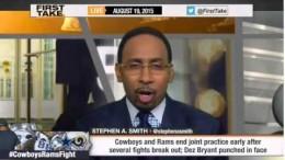 ESPN First Take – Dallas Cowboys & St. Louis Rams Brawl; Dez Bryant Punched