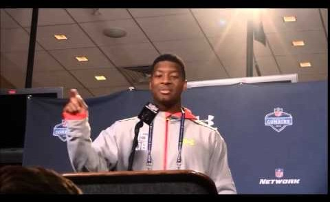 Full Jameis Winston interview NFL Combine, says shoulder is fine