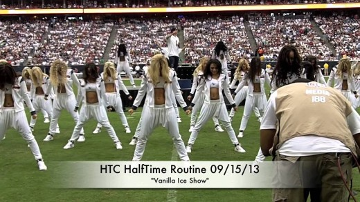 Houston Texans Cheerleaders HalfTime Dance – Ice Ice Baby