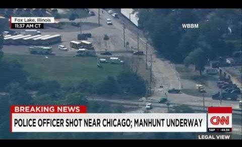 Chicago Cop Shot Fox Lake Illinois  Manhunt underway Fox Lake police officer has been shot killed