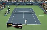 Djokovic & Nadal Best Point in Tennis History US OPEN Fianl 2011