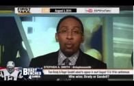 ESPN First Take  Tom Brady or Roger Goodell  Who Wins