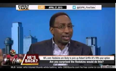 ESPN First Take – Washington Redskins Pick Up Robert Griffin III (RG3)'s Fifth-Year Option For 2016