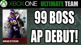 99 BOSS ADRIAN PETERSON DEBUT! – Madden 15 Ultimate Team | MUT XB1 Gameplay