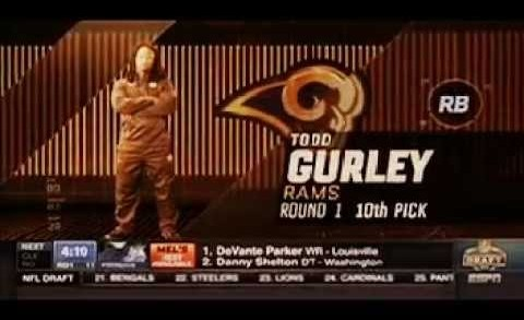 St. Louis Rams draft Todd Gurley in The 1st Round of The 2015 NFL Draft