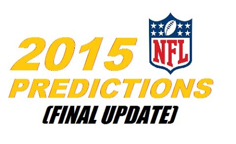 2015-16 NFL Standings Predictions (Final Update)
