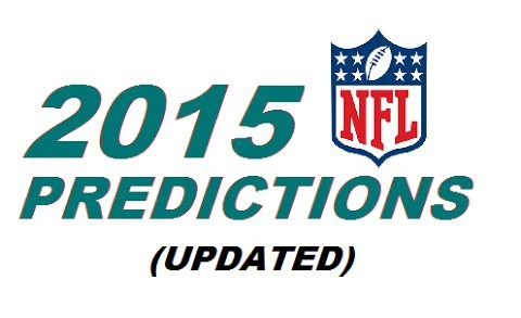 2nd 2015-16 NFL Standings Predictions Video OUTDATED (Final Update in Description)