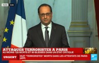 "Attentats de Paris – François Hollande: ""Un acte d'une barbarie absolue."" Deuil national de 3 jours"