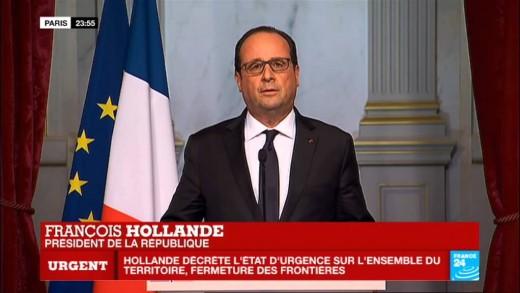 Attentats terroristes à Paris : État d'urgence décrété – Allocution de François Hollande