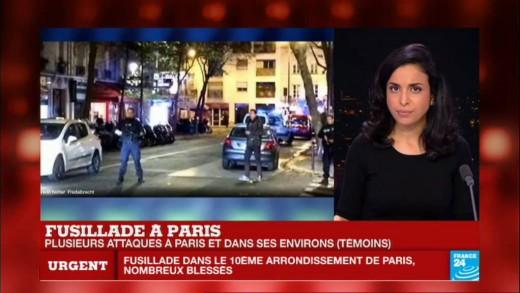 Attentats terrroristes à #Paris : 2 corps allongés. De nombreux blessés.