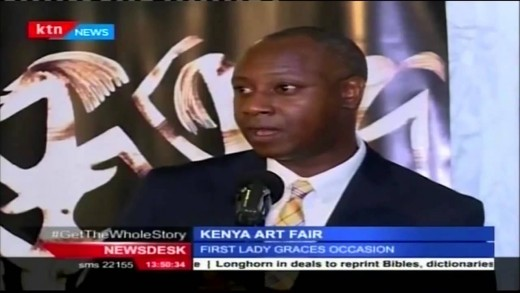 First lady Margret Kenyatta attends Kenya art fair