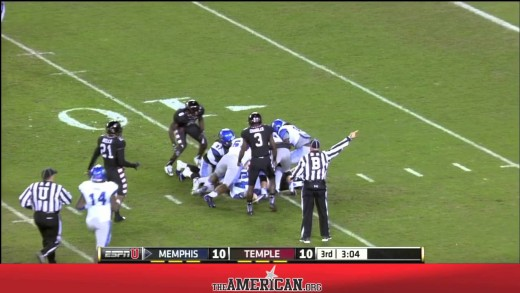 Football Highlights – Memphis Tigers 16, Temple Owls 13 November 7, 2014