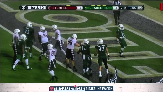 Football Highlights:  Temple 37, Charlotte 3