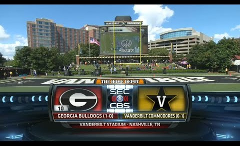 Georgia vs Vanderbilt Full game 12/09/2015 Week 2 NCAA Football 2015