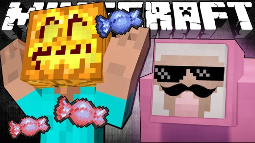 Pink Sheep Goes Trick or Treating – Minecraft
