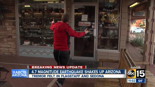 Residents react after earthquake hits in Northern Arizona