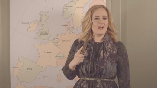 Adele announces tour in funny Facebook video