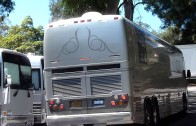 Adele tour bus arriving at UC Berkeley, California Greek Theater 8/14/11 in HD