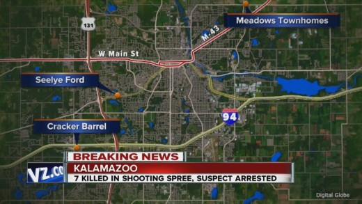7 massacred in random shootings in Kalamazoo