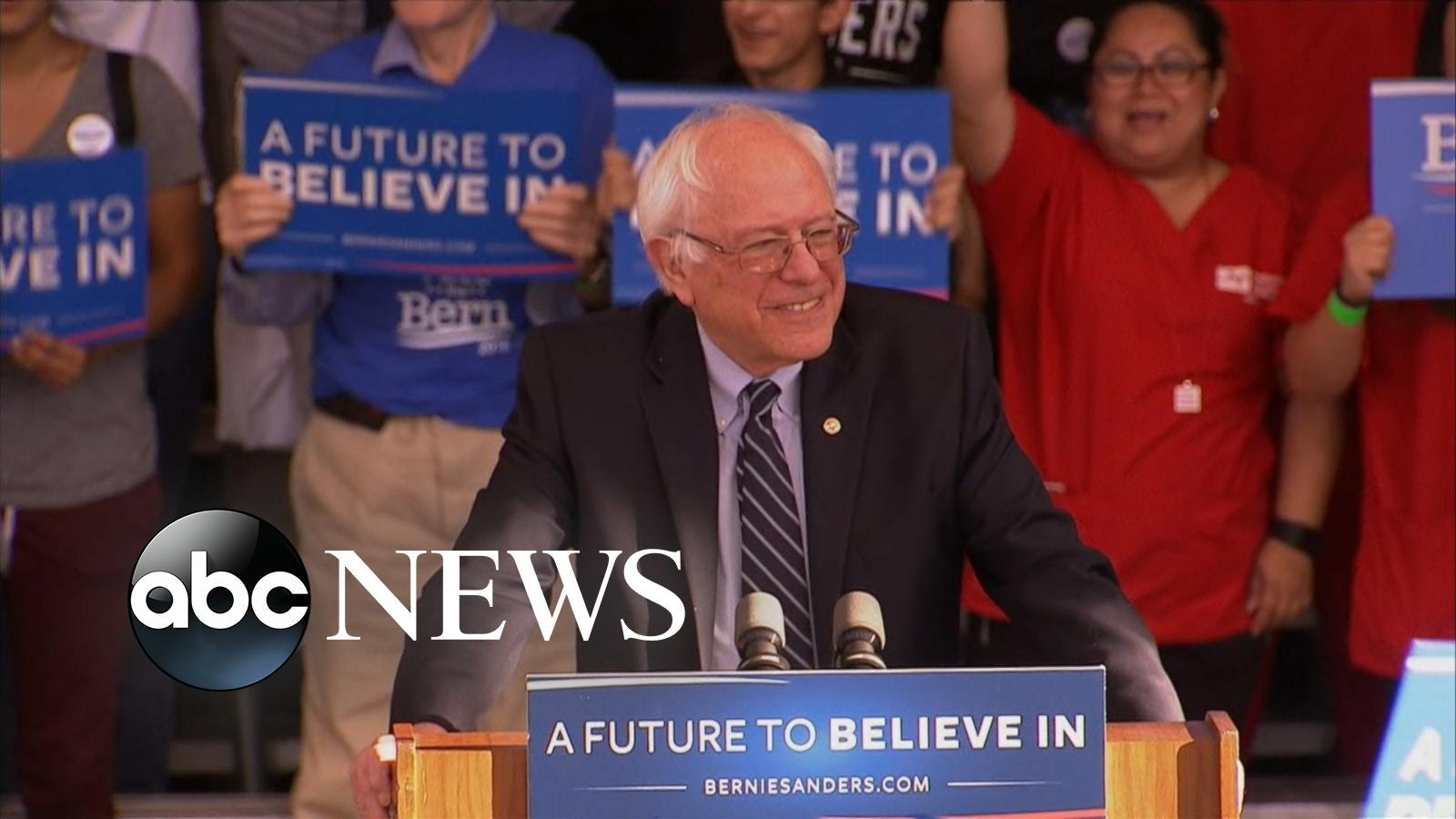 the speech of bernie sanders during his presidential campaign announcement Record numbers of graduation applicants in wake of bernie sanders announcement one year and made a campaign stop on campus during his 2016 presidential bid.
