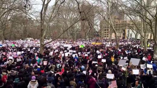 Pro-Peter Liang Rally at Cadman Plaza, Brooklyn, NY on Feb 20, 2016