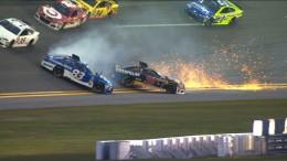 Ryan Newman and Michael Waltrip Wreck in Practice – Daytona 500 – 2016 NASCAR Sprint Cup