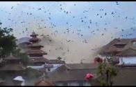 Tourist video captures moment earthquake struck Nepal: Kathmandu's Durbar Square