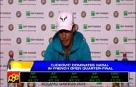 Djokovic dominates Nadal in French Open quarterfinals