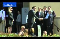 Leading figures arrive for memorial honoring David Goldberg