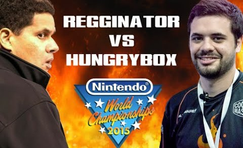 Reggie Burns Hungrybox at the 2015 Nintendo World Championship