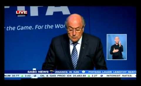 Sepp Blatter says he will step down as FIFA president