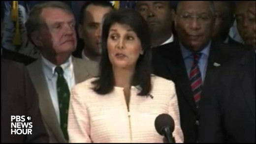 Watch S.C. Gov. Haley call for Confederate flag to be removed from state capitol