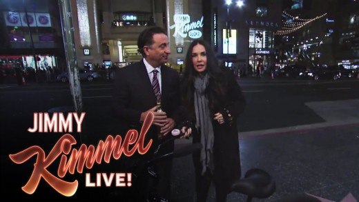 Matt Damon and Andy Garcia Find Demi Moore Outside on Hollywood Blvd.