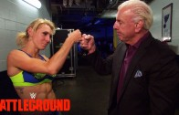 Team Paige celebrates with The Nature Boy: WWE.com Exclusive, July 19, 2015