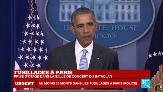 """Attentats à #Paris – Barack Obama : """"Ces attaques veulent terroriser des civils"""""""