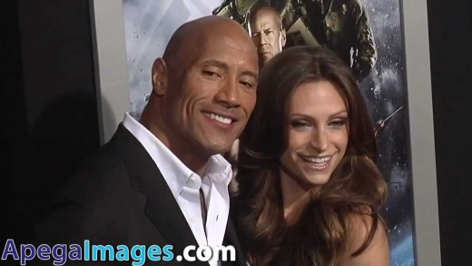 Dwayne Johnson and Lauren Hashian at the Premiere of 'G.I.Joe: Retaliation'