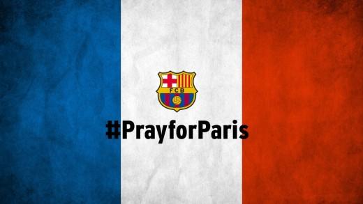 FC Barcelona #pray for Paris