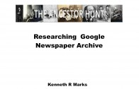 Researching Newspapers – The Free Google News Archive