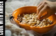 Salty Crispy Roasted Pumpkin Seeds for Halloween | Cook With Amber