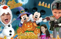 Trick or Treating in DISNEY WORLD!  Mickey's Not So Scary Halloween Party 2015 (FUNnel Vision Trip)