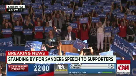 Bernie Sanders Loses Nevada Democratic Caucus Sanders speech 2/20/16