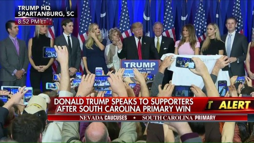 Donald Trump Gives Victory Speech from South Carolina Primary